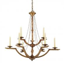 Golden 3071-9 GG - 9 Light Chandelier
